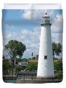Milliken State Park Lighthouse Duvet Cover