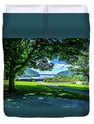 Million Dollar View From West Point Military Academy Duvet Cover