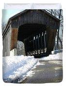 Millrace Park Old Covered Bridge - Columbus Indiana Duvet Cover