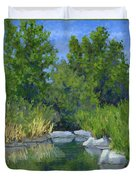 Millrace Pond Duvet Cover by David King