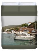 Milos On Agistri Island Duvet Cover