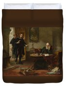 Milton Visiting Imprisoned Galileo Duvet Cover