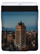 Milwaukee Aerial. Duvet Cover