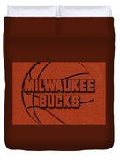 Milwaukee Bucks Leather Art Duvet Cover