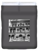 Milwaukee Cloud Reflections Bw Duvet Cover