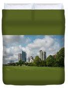 Milwaukee Skyline From Veterans Park 1 Duvet Cover