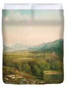 Minding The Flock Duvet Cover