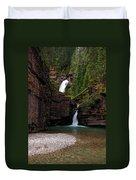 Mineral Creek Falls Duvet Cover