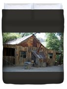 Miners Cabin. Duvet Cover