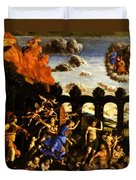 Minerva Chasing The Vices From The Garden Of Virtue 1502 Duvet Cover