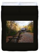 Mingus Mill Fall Color Great Smoky Mountains National Park Duvet Cover