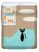 Mini Abstract With Blue Chair Duvet Cover