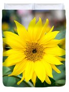 Mini Sunflower And Bud Duvet Cover