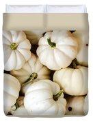 Mini White Pumpkins Duvet Cover