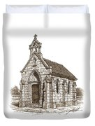 Miniature Church Of Froberville Duvet Cover