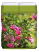 Miniature Fuchsia Roses Duvet Cover