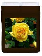 Miniature Yellow Rose Duvet Cover