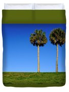 Minimal Palm Trees On A Hill In Saint Augustine Florida Duvet Cover