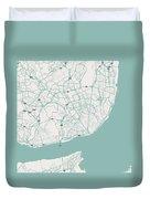 Minimalist Artistic Map Of Lisbon, Portugal 3 Duvet Cover