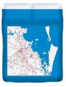 Minimalist Modern Map Of Brisbane, Australia 6 Duvet Cover