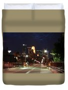 Minneapolis From The Stone Arch Bridge Duvet Cover
