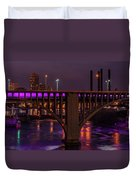 Minneapolis In Purple 4 - Wide Crop Duvet Cover
