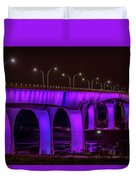 Minneapolis In Purple 6 Duvet Cover