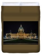 Minnesota Capital At Night Duvet Cover