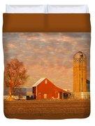 Minnesota Farm At Sunset Duvet Cover