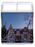 Christmas Lights Series #6 - Minnesota Governor's Mansion Duvet Cover