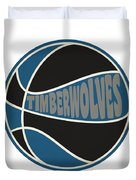 Minnesota Timberwolves Retro Shirt Duvet Cover