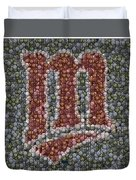 Minnesota Twins Baseball Mosaic Duvet Cover