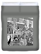 Mint Julep In Grayscale Duvet Cover