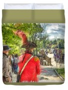 Minuteman And Redcoat Concord Ma Pencil Duvet Cover