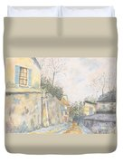 Mirage Of Utrillo Duvet Cover