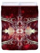 Mirror Gateway / Crop / Red Stars Duvet Cover