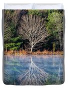 Mirror Mirror On The Pond Duvet Cover