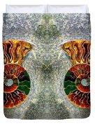 Mirrored Ammomite - 8305 Duvet Cover
