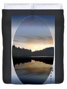 Mirrored Lake Duvet Cover