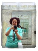 Mirrored Self-portrait Duvet Cover