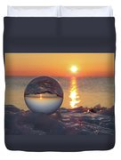 Mirrored Sunrise Duvet Cover