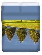 Mirroring Trees Duvet Cover