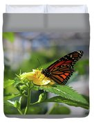 Mirthful Monarch Duvet Cover