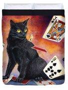 Mischief Kitten Duvet Cover