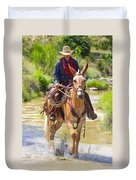 Miss Aleto And The Cowboy Iv Duvet Cover