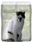 Miss Jerrie Cat With Watercolor Effect Duvet Cover