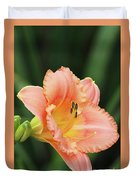 Miss Tinkerbell Daylily Duvet Cover