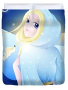 Miss Winter-night Duvet Cover