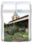 Mission Bells And Garden Duvet Cover