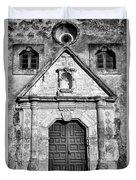 Mission Concepcion Entrance - Bw Duvet Cover